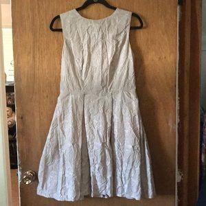 Flower embossed dress